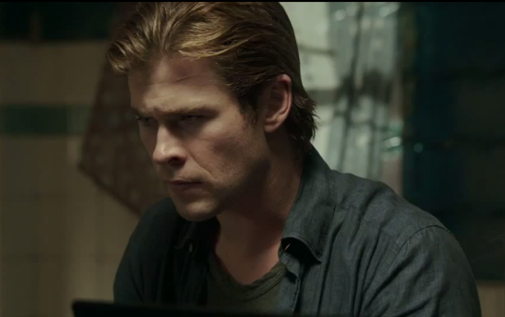 Hacker Hemsworth looking as confused about 'Blackhat' as we are.