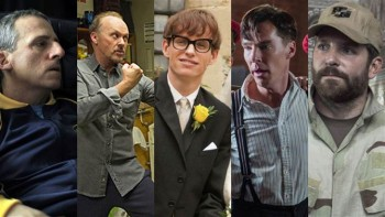 Best Actor is going to be a showdown between Eddie Redmayne and Michael Keaton.