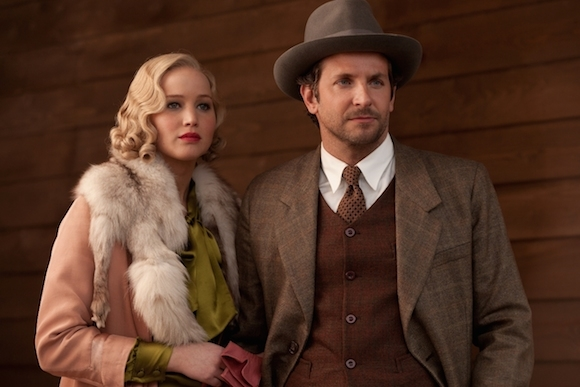 Jennifer Lawrence and Bradley Cooper playing dress up in Serena.