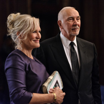 Glenn Close and Frank Langella play Brian's concerned but loving parents.