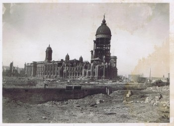 The ruins of San Francisco's City Hall after the 1906 earthquake.
