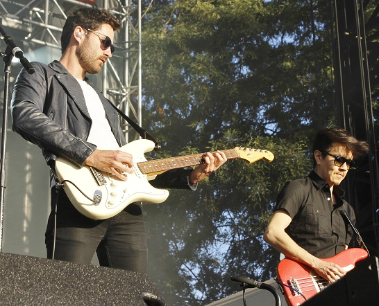 Capital Cities' Ryan Merchant with Manny Quintero on bass.