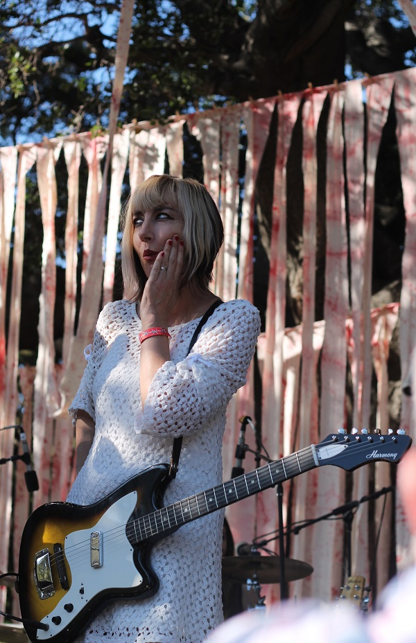 6 A surprised Kim Shattuck of The Pandoras