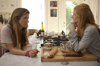 Tasha (Grace Gummer) tried to comfort her newly separate mother (Patricia Clarkson).