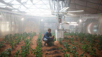 For stranded astronaut/botanist Watney (Matt Damon), potatoes are on the menu. Indefinitely.