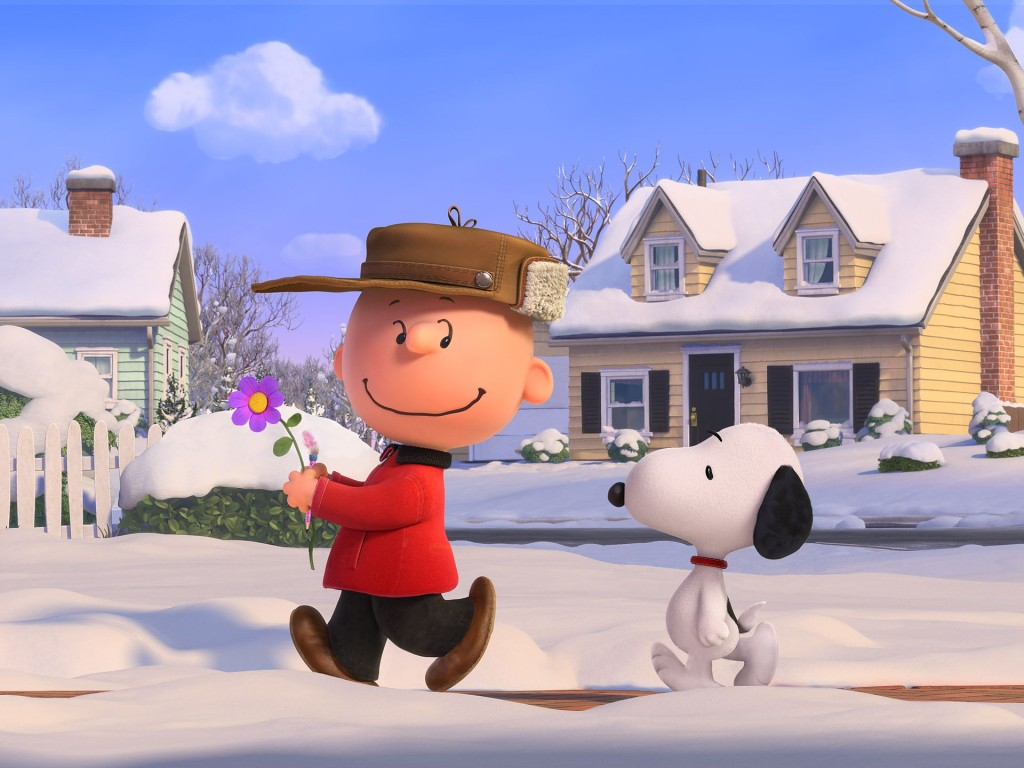 Charlie and Snoopy on a mission.
