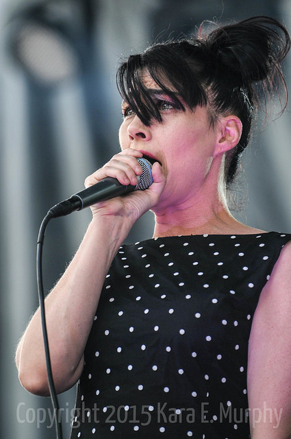Kathleen Hanna performs with The Julie Ruin at Pitchfork Music Festival.