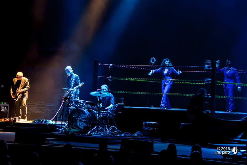 Puscifer (Mat Mitchell, Paul Barker, Jeff Friedl, Carina Round, and Maynard James Keenan)