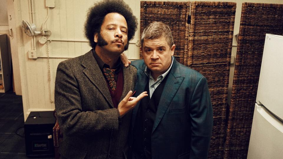 Boots Riley and Patton Oswalt (photo by Steve Agee)