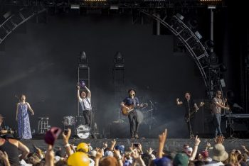 "The Lumineers had the crowd singing along to hits ""Ho Hey"" and ""Ophelia."" (Photo credit: BottleRock Napa Valley / Latitude 38 Entertainment)"