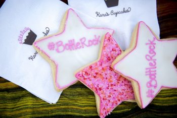 Kara's Cupcakes made custom sugar cookies for the occasion (Photo credit: BottleRock Napa Valley / Latitude 38 Entertainment)