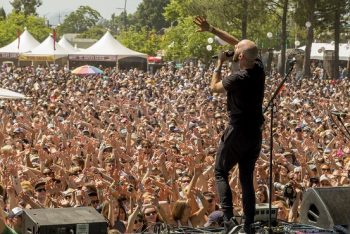 "The crowd gets involved as X Ambassadors thrilled with big hits like ""Renegades"" and ""Unsteady."" (Photo credit: BottleRock Napa Valley / Latitude 38 Entertainment)"