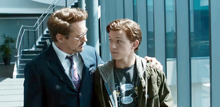 Robert Downey Jr and Tom Holland
