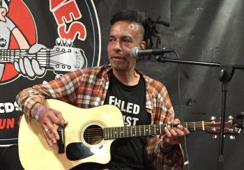 Chuck Mosley performing at Looney Tunes Records in Babylon, NY, 2016-07-18 via Wikipedia