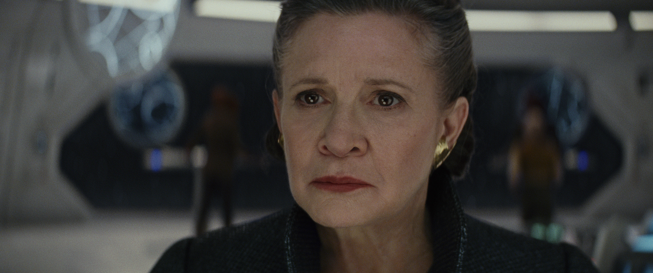 General Leia Organa, in Carrie Fisher's last performance